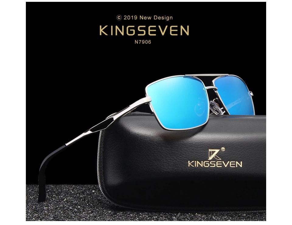 7e9fbe2da88 2019 KINGSEVEN Brand Classic Square Plastic Polarized Men Sunglasses Men s  Sun Glasses Driving Fishing Aluminum Eyewear